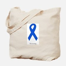 Blue Ribbon: Strong Tote Bag