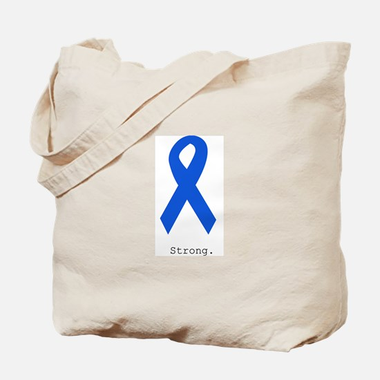 Blue Ribbon: Strong Tote Bag