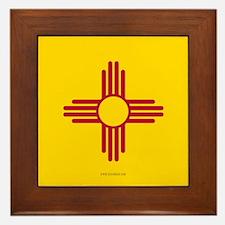 New Mexico State Flag Framed Tile