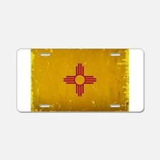 New Mexico State Flag VINTA Aluminum License Plate
