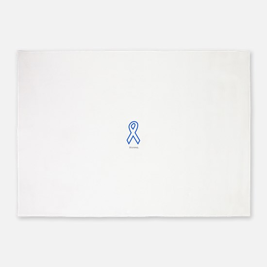 Blue Outline: Strong 5'x7'Area Rug