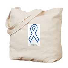 Blue Outline: Strong Tote Bag