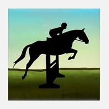Hunter Jumper Grassy Field Tile Coaster
