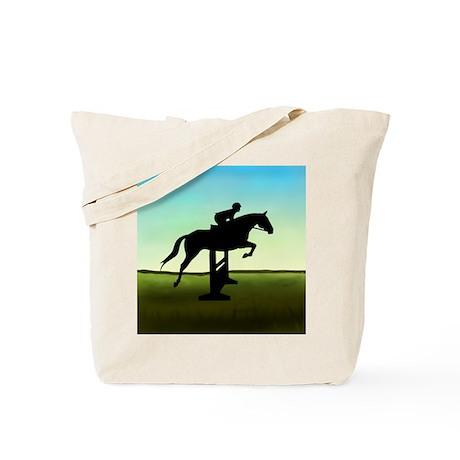 Hunter Jumper Grassy Field Tote Bag
