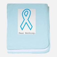 Light Blue: Fear Nothin baby blanket