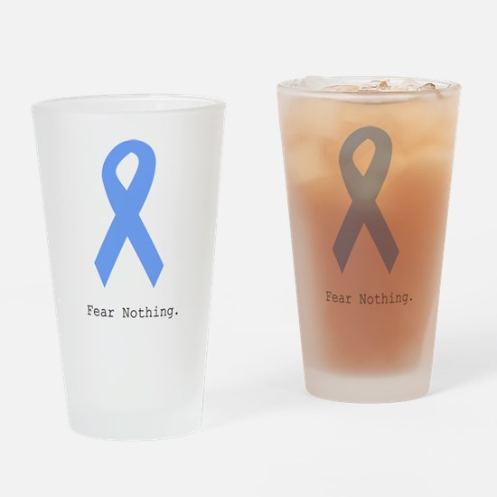 Light Blue: Fear Nothin Drinking Glass