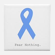 Light Blue: Fear Nothin Tile Coaster