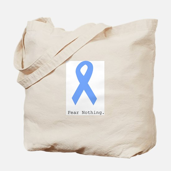 Light Blue: Fear Nothin Tote Bag