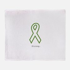Green: Strong Throw Blanket