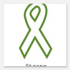 "Green: Strong Square Car Magnet 3"" x 3"""