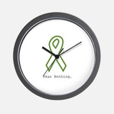 Green: Fear Nothing Wall Clock