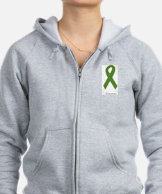 Green Ribbon: Strong Zip Hoodie