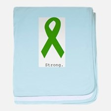 Green Ribbon: Strong baby blanket
