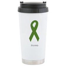 Green Ribbon: Strong Travel Mug