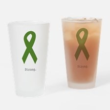 Green Ribbon: Strong Drinking Glass