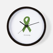 Green Ribbon: Strong Wall Clock