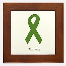 Green Ribbon: Strong Framed Tile