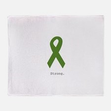 Green Ribbon: Strong Throw Blanket