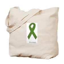 Green Ribbon: Strong Tote Bag