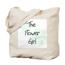 Flower Girl Green Flowers Tote Bag