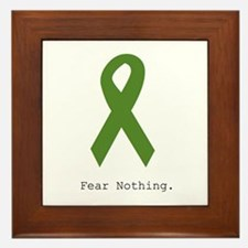 Green: Fear Nothing Framed Tile