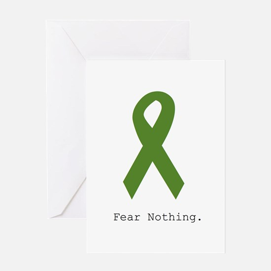 Green: Fear Nothing Greeting Cards