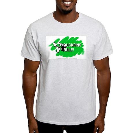 'Duckpins Rule' Ash Grey T-Shirt