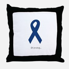 Navy Blue: Strong Throw Pillow