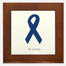 Navy Blue: Strong Framed Tile