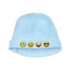 smiley emojis baby hat