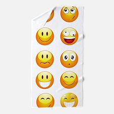 smiley emojis Beach Towel