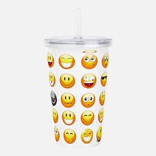 smiley emojis Acrylic Double-wall Tumbler