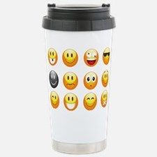 smiley emojis Travel Mug