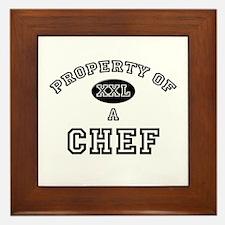 Property of a Chef Framed Tile