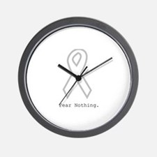 Silver: Fear Nothing Wall Clock