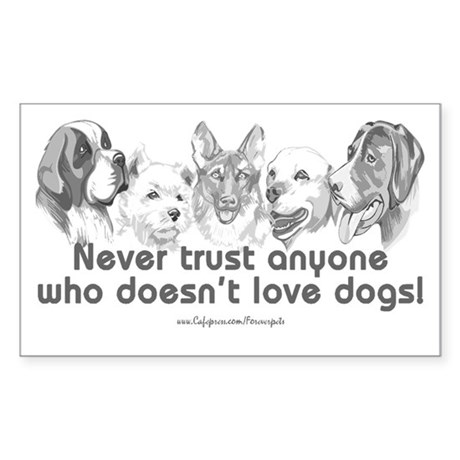 Dog Love Rectangle Sticker