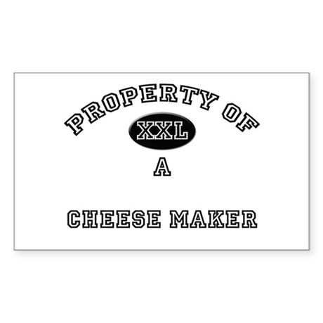 Property of a Cheese Maker Rectangle Sticker