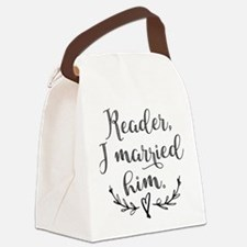 Reader I Married Him Canvas Lunch Bag