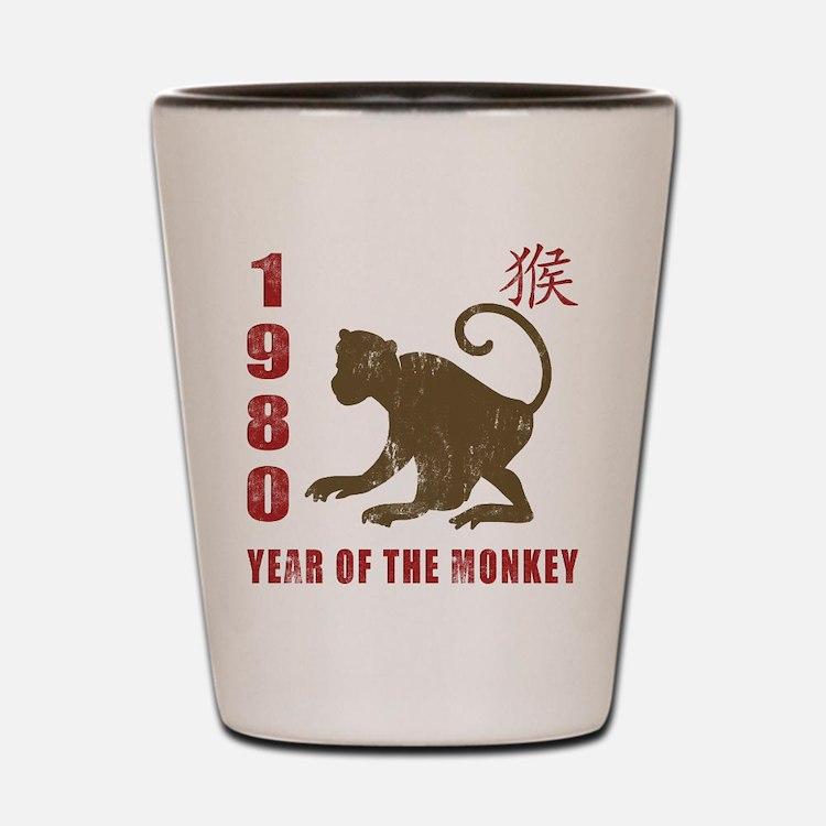 1980 Year of The Monkey Shot Glass