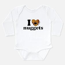 Unique I love fried chicken Long Sleeve Infant Bodysuit