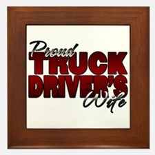 Proud Truckers Wife Framed Tile