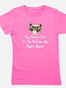 Funny Grumpy cat Girl's Tee