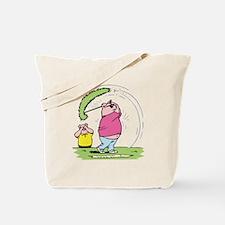 Funny Golfing Pig Tote Bag