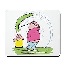 Funny Golfing Pig Mousepad