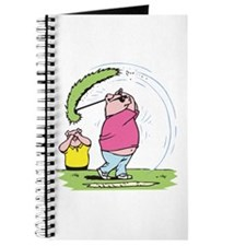 Funny Golfing Pig Journal
