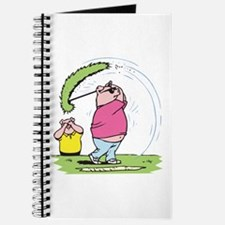 Funny Golfing Pig Journal