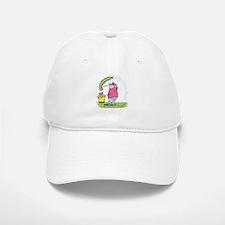 Funny Golfing Pig Baseball Baseball Cap