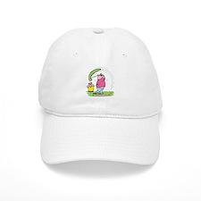Funny Golfing Pig Baseball Cap