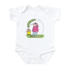 Funny Golfing Pig Infant Bodysuit