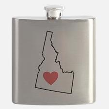 I Love Idaho Flask